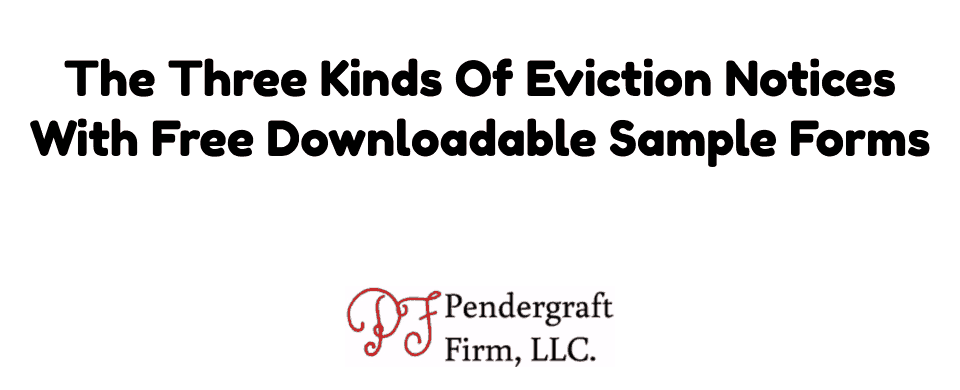 Eviction Notice Free Downloadable Forms For Failure To Pay Rent, Tenant  Holding Over, And