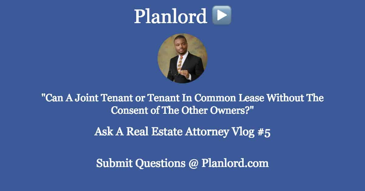 Lease Without Permission of Co-Owners