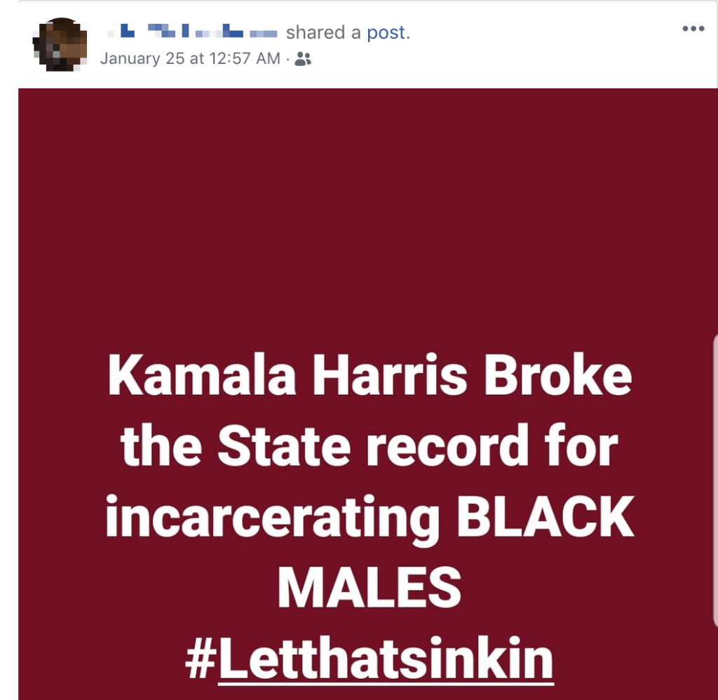 Kamala Harris Broke State record fo Incarcerating Black Males