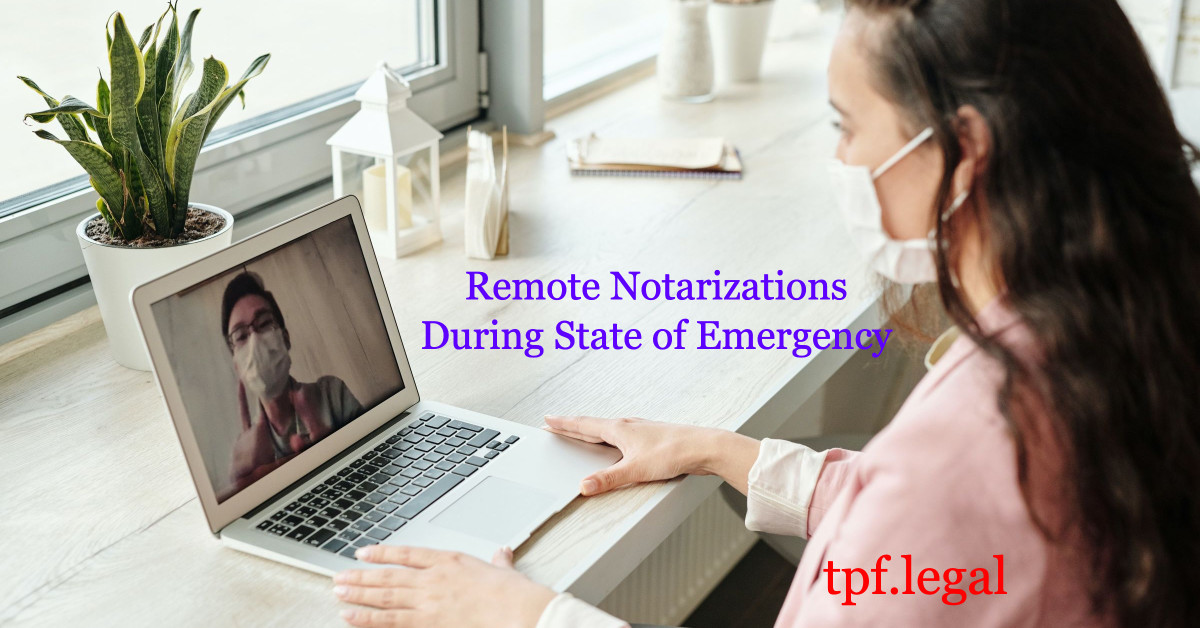 Remote Notarizations